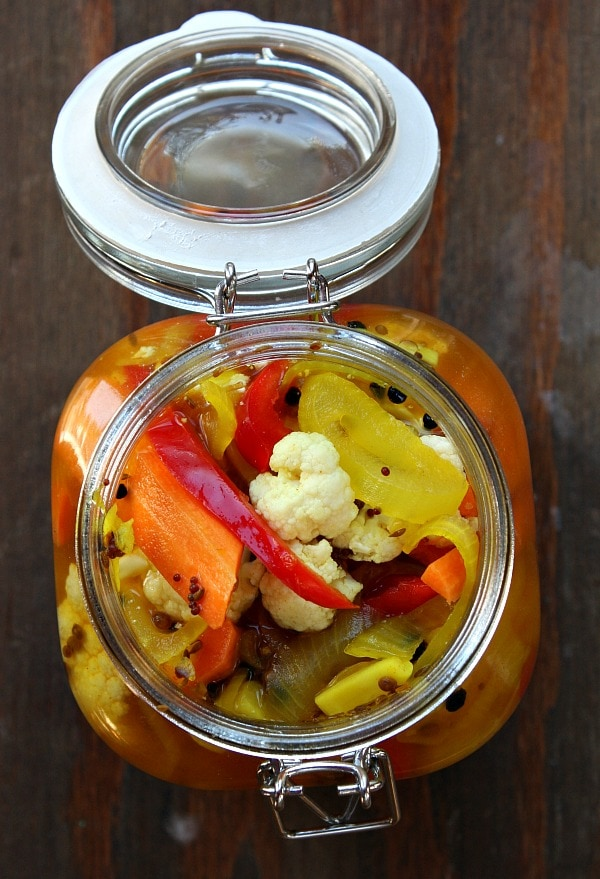 Easy recipe for Pickled Cauliflower - recipe from RecipeGirl.com