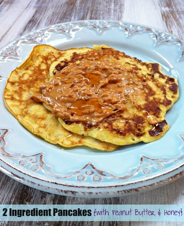 Super easy 2 Ingredient Pancakes with toppings
