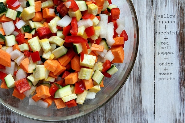 Roasted Vegetable and Black Bean Tacos recipe from RecipeGirl.com