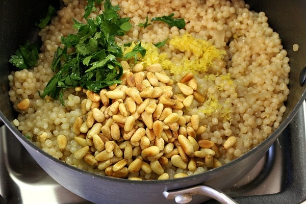 Israeli Couscous with Pine Nuts and Parsley 5
