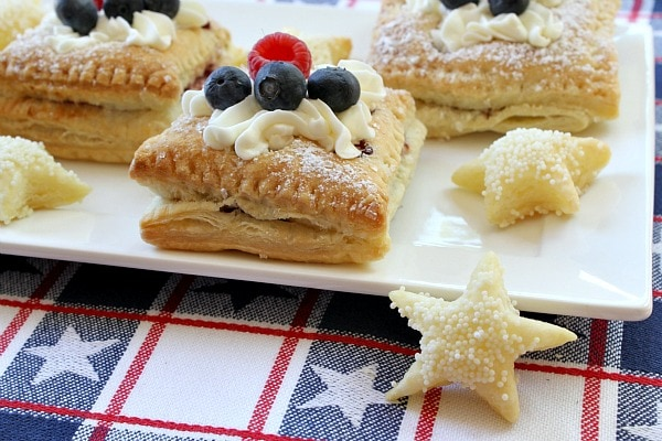 Patriotic Red, White and Blue Pastries