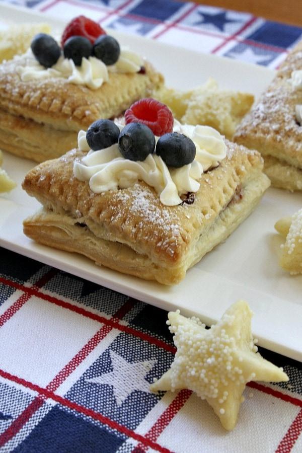 Red, White and Blue Patriotic Pastries -- RecipeGirl.com