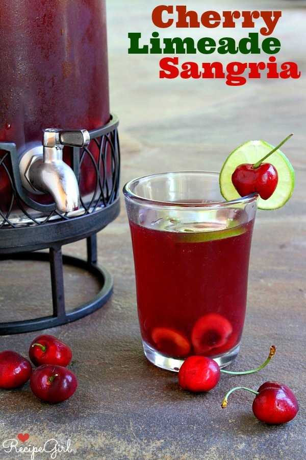 Cherry- Limeade Sangria from RecipeGirl.com