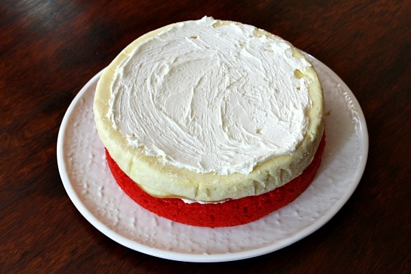 How to Make Red White and Blue Cheesecake Cake