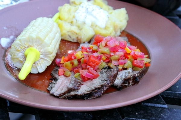 Flank Steak with Tomato- Pepper Salsa