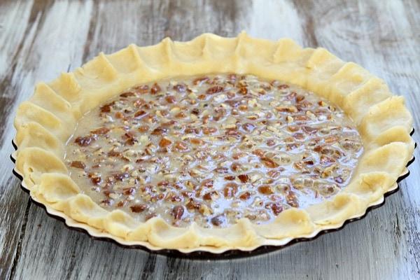 Pecan Pie crust with filling