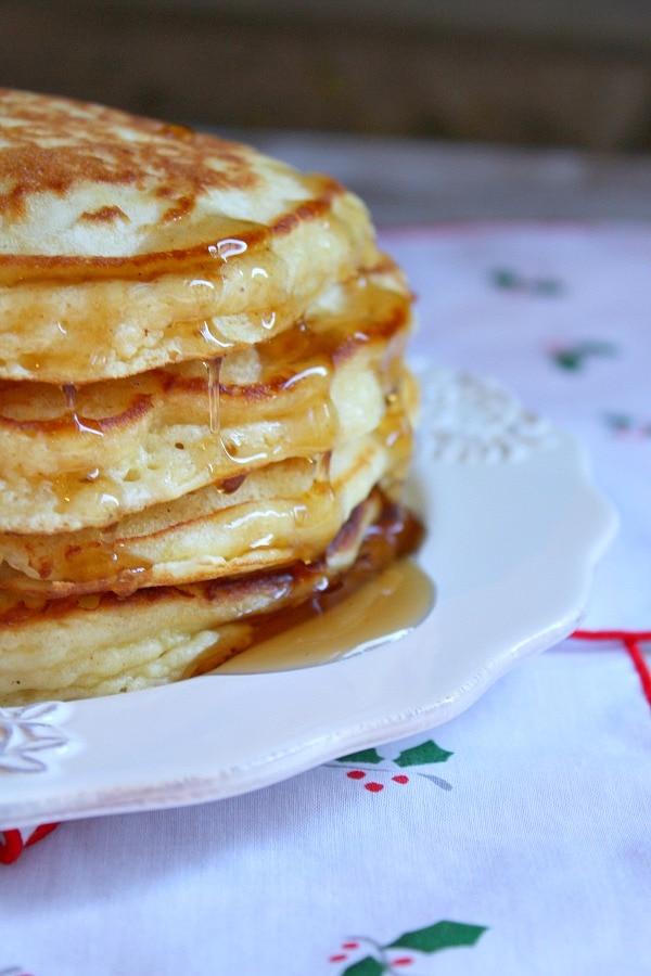 Eggnog Pancakes - RecipeGirl