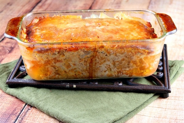 Chicken Parmigiana Meatloaf recipe - from RecipeGirl.com