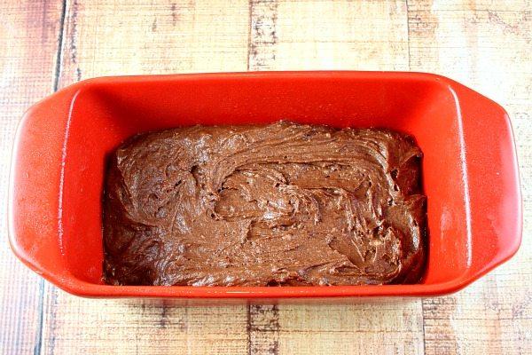 making Chocolate Valentine Surprise Loaf Cake
