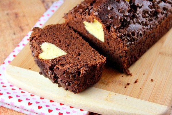 Chocolate Valentine Surprise Loaf Cake