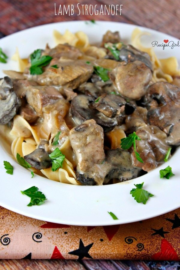 Slow Cooker Lamb Stroganoff recipe from RecipeGirl.com