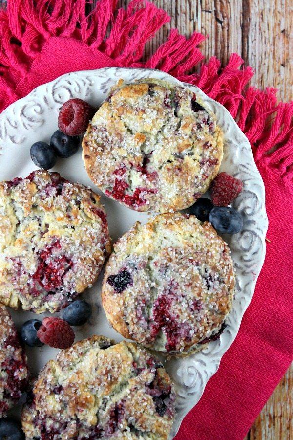 Berry Scones #recipe - RecipeGirl.com