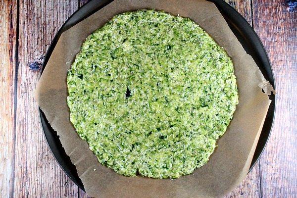 Zucchini Pizza Crust recipe by RecipeGirl.com