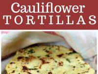 pinterest collage image for cauliflower tortillas