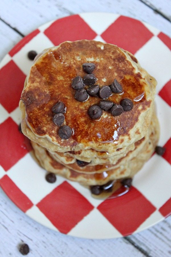 Fluffy Peanut Butter Pancakes #Recipe