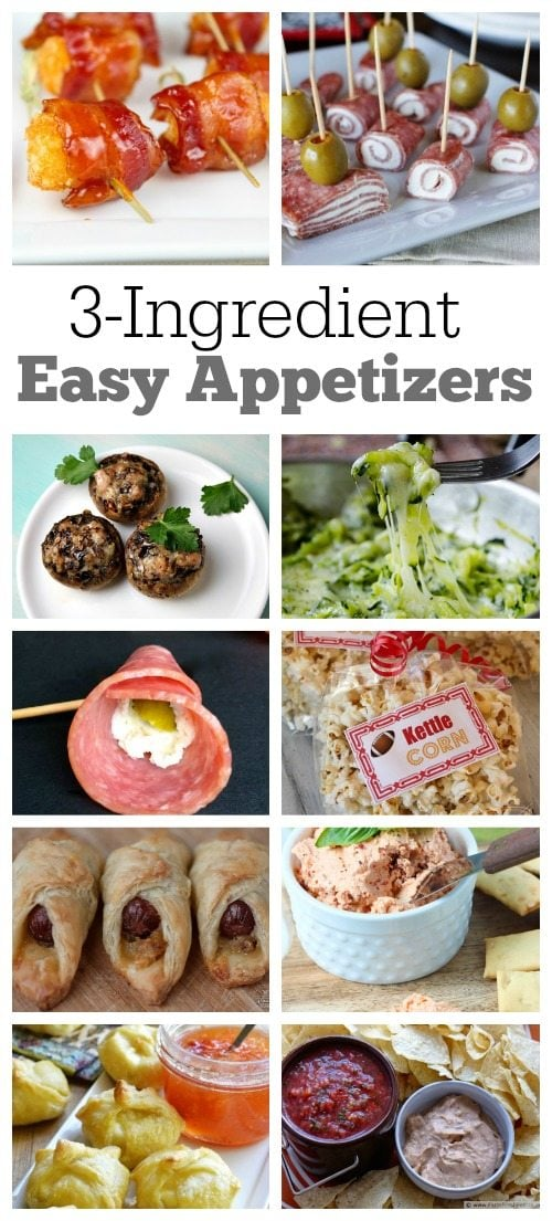 3 ingredient Easy Appetizer Recipes