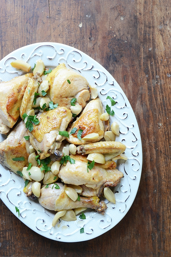 Chicken with 40 Cloves of Garlic Recipe : RecipeGirl.com