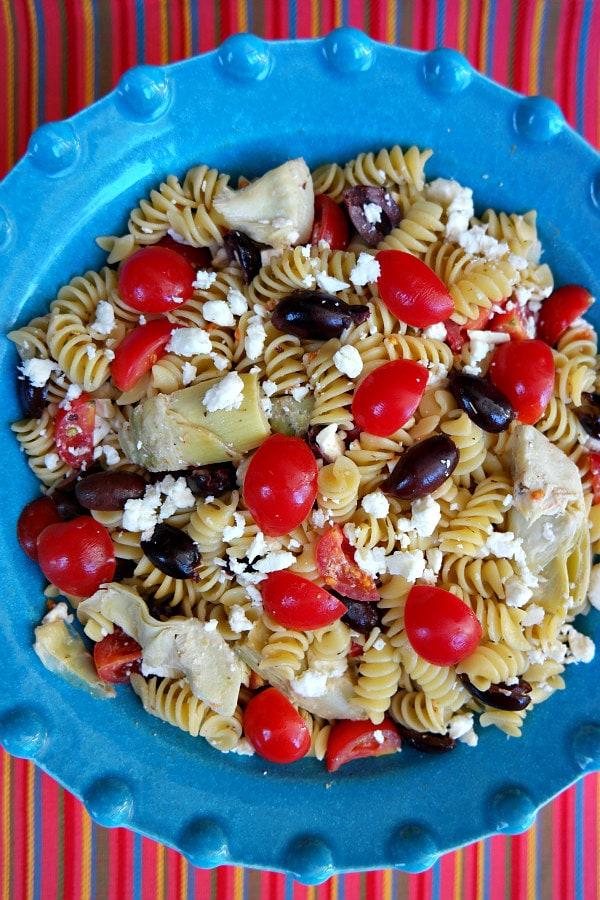 Greek Pasta Salad Recipe - RecipeGirl.com