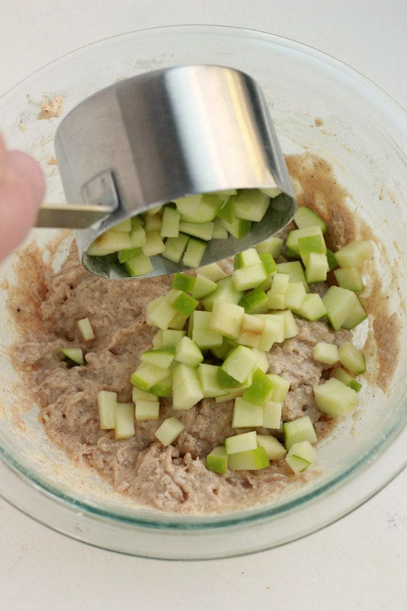 Making batter for Apple Fritters