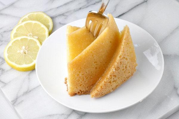 Slice of 7 Up Pound Cake