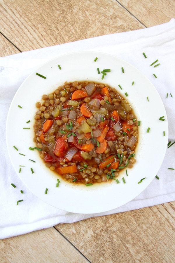 Bowl of Easy Lentil Soup