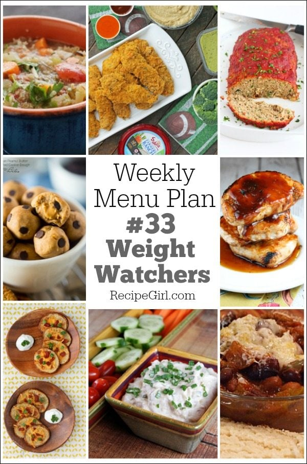 Weekly Menu Plan Weight Watchers #33