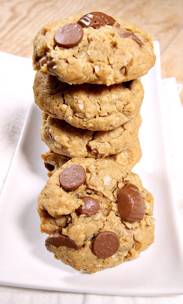 Oatmeal Peanut Butter Cup Chocolate Chip Cookies Recipe