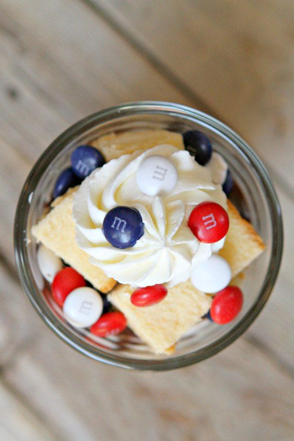 Patriotic M&M's Trifles