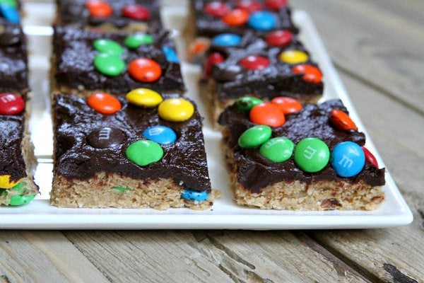 No Bake Monster Cookie Bars Recipe