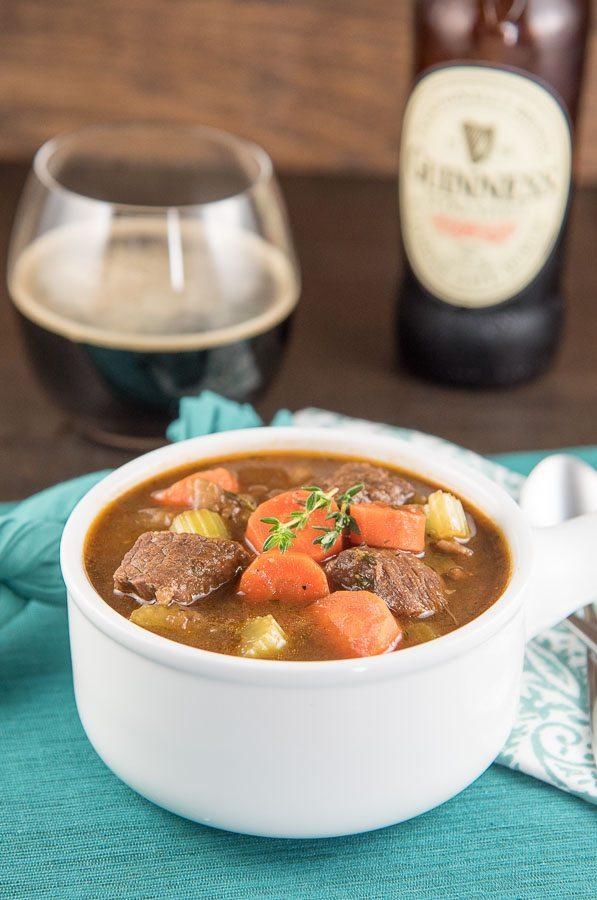 Classic Beef and Guinness Stew recipe - from RecipeGirl.com