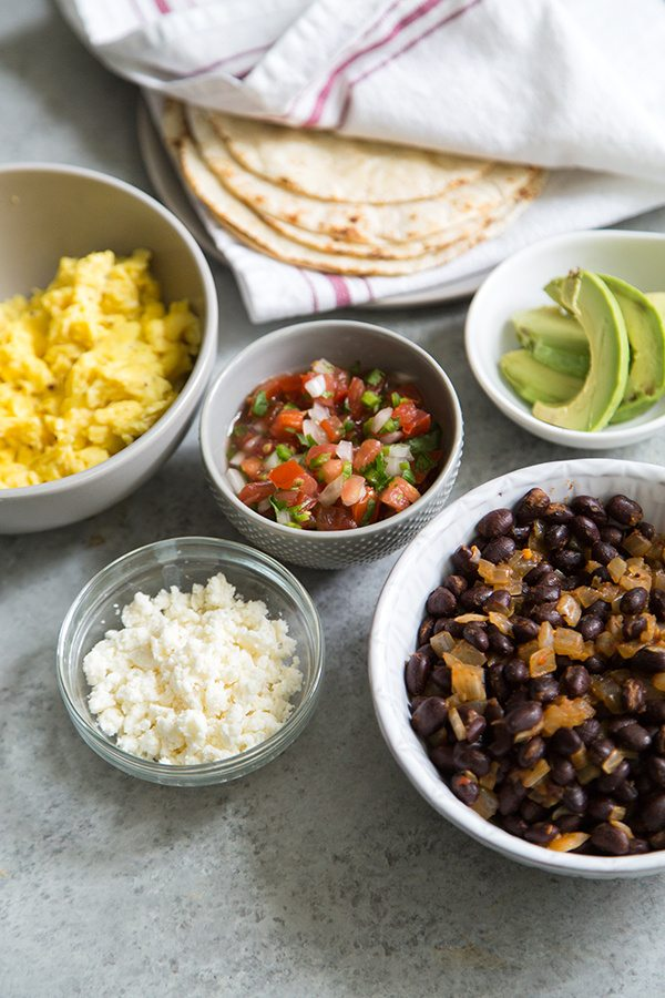 Ingredients for Breakfast Tacos