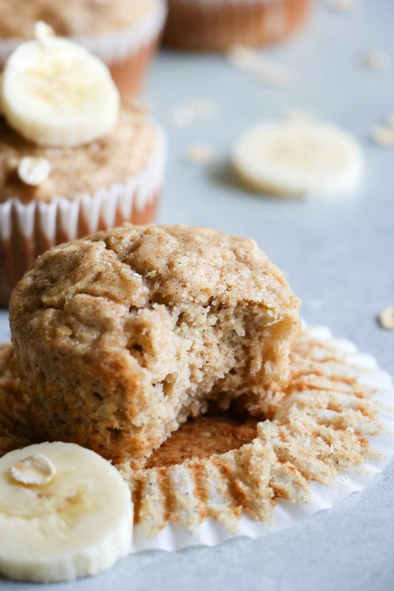 Biting into Banana Oat Muffins