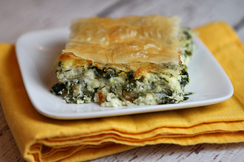 Slice of Greek Spinach Pie