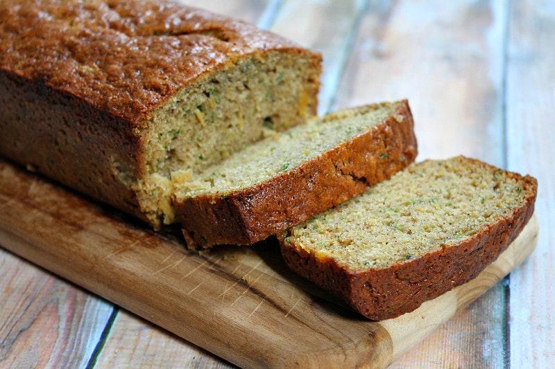 Sliced Pineapple Zucchini Bread Loaf