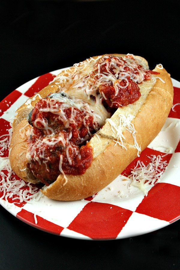 Best Homemade Meatballs served in a sub sandwich