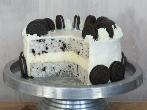 Excellent Cookies And Cream Cheesecake Cake Recipe Girl Funny Birthday Cards Online Alyptdamsfinfo