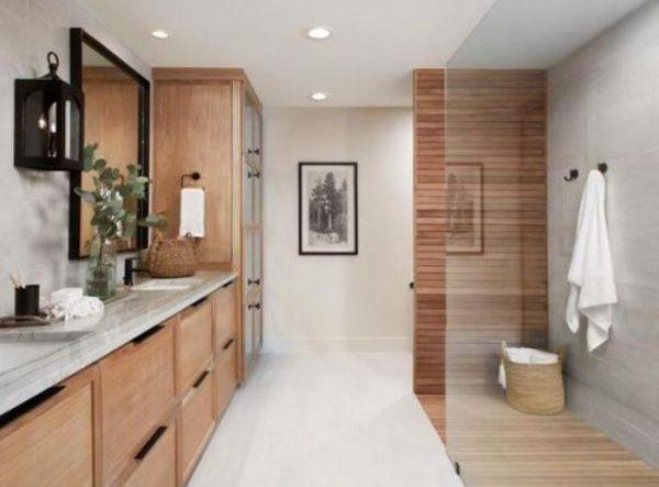 earthy bathroom feature