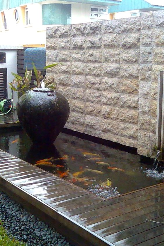 koi pond landscaping 1