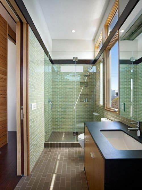 long narrow bathroom 16