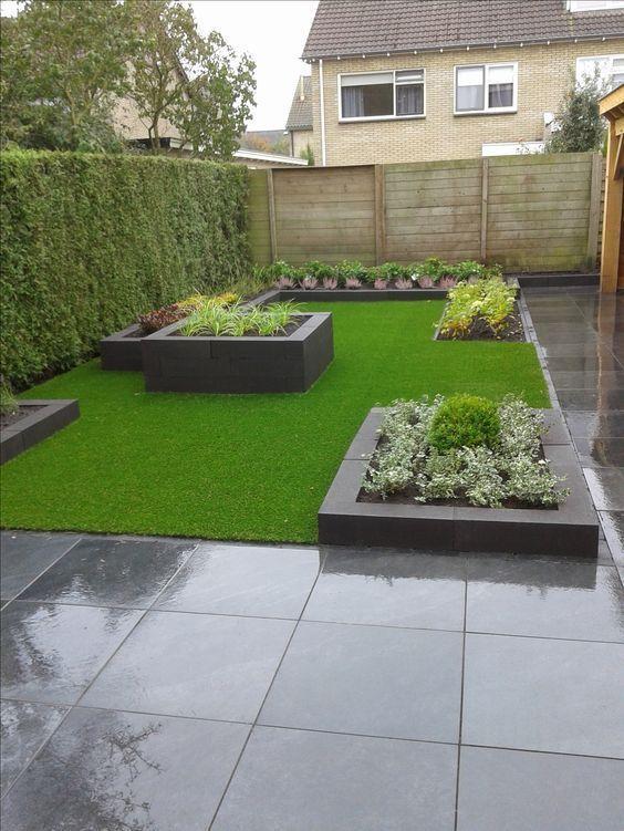 minimalist backyard garden 15