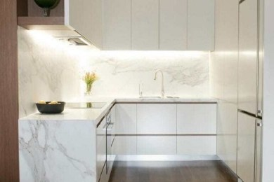 minimalist kitchen feature