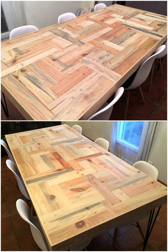 pallet dining table 16