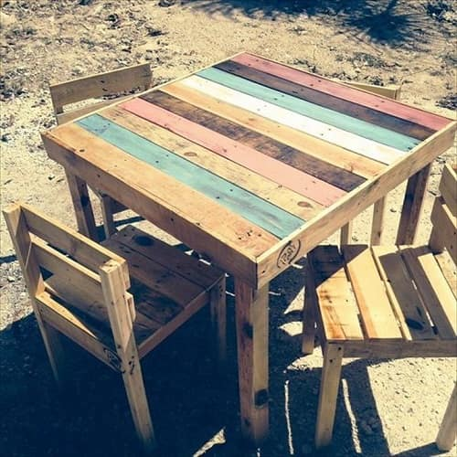 pallet dining table 3