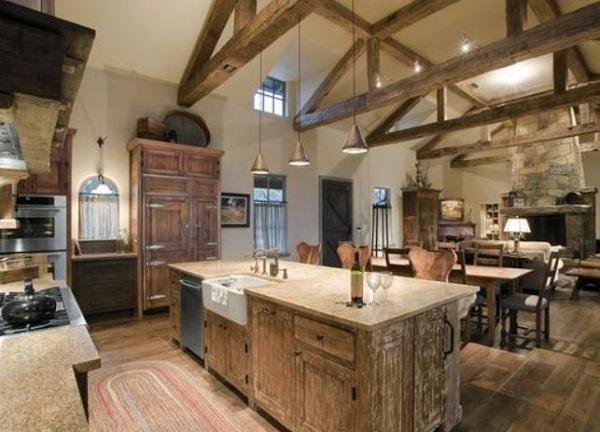 rustic kitchen decor feature