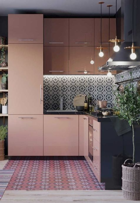 blush pink kitchen 16