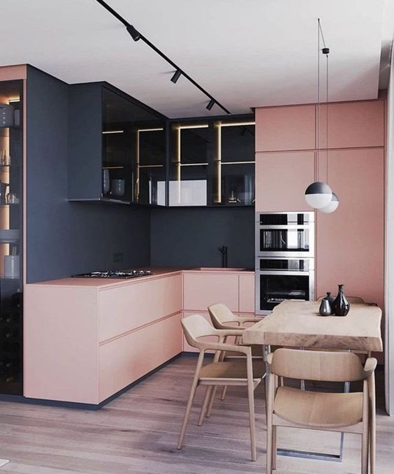 blush pink kitchen 2
