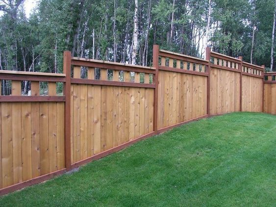 cedar fencing ideas 16