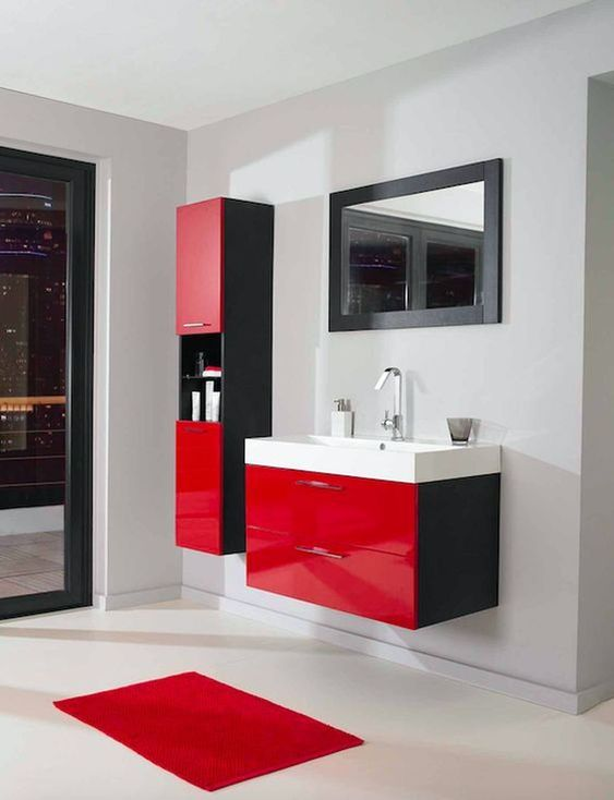 colored bathroom vanity 13