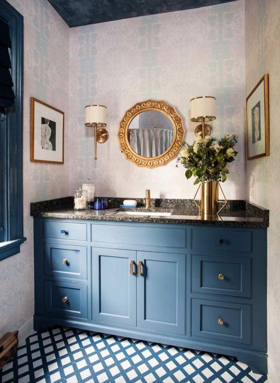 colored bathroom vanity 18