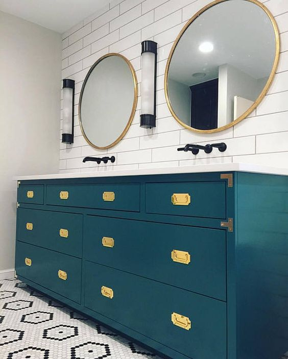 colored bathroom vanity 19